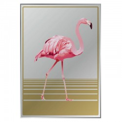 Flamingo Printed Mirror - Red Candy
