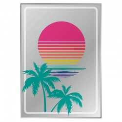 Sunset Printed Mirror - Red Candy