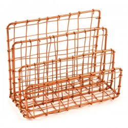 Cabo Letter Holder - Copper - Wire Post Rack - Design Ideas