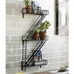 Fire Escape Shelf - industrial wall display - Design Ideas