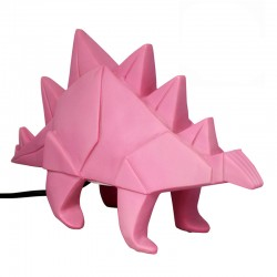 Stegosaurus Pink Dino Lamp	- Dinosaur Light - Disaster Designs