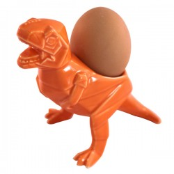T-Rex Dino Egg Cup - Orange Dinosaur Egg Cup - Disaster Designs