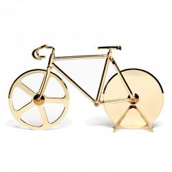 Fixie Pizza Cutter - Gold - bicycle pizza wheel - DOIY