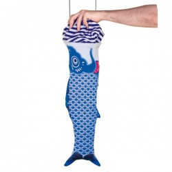 Koinobori Travel Laundry Bag - Blue - fish wash bag - DOIY