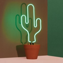 Neon Cactus Lamp - Red Candy