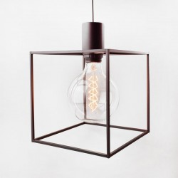 Paradice Naked Pendant Light – minimalist black pendant lamp