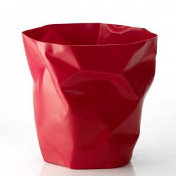 Red Essey Bin Bin Paper Bin - red designer waste basket