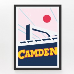 Evermade Camden Lock Framed Print - Red Candy