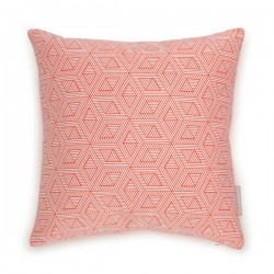 Evermade Geometric Cushion - double-sided patterned red cushion