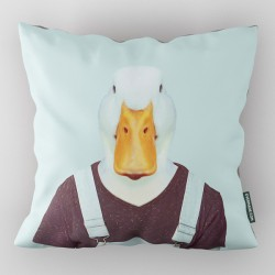 Evermade Zoo Portrait Cushion (Duck) - Red Candy
