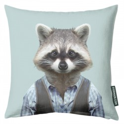 Evermade Zoo Portrait Cushion (Racoon) - Red Candy