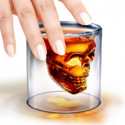 Doomed Shot Glass - skull design drinks glass - Fred
