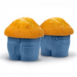 Muffin Top Baking Cups - novelty silicone cupcake moulds - Fred