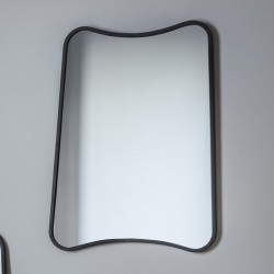 Abstract Black Rectangular Mirror (61 x 81cm) - Red Candy