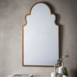 This Arabian Metal Framed Mirror adds brings an elegant look to any room!