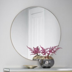 Large Round Champagne Mirror (100cm) - Red Candy