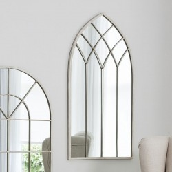 Cream Church Window Wall Mirror (50 x 95cm)- Red Candy