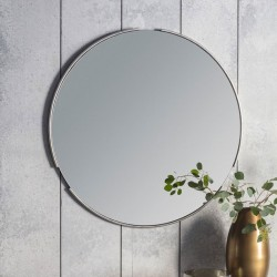 Silver Eclipse Wall Mirror (80cm) - Red Candy