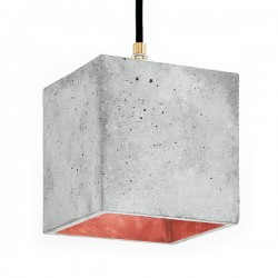 B1 Cubic Pendant Light – grey and copper concrete pendant light