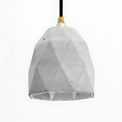 T1 Triangle Concrete Pendant Light (Grey & Silver) - Red Candy