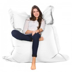 Oxford Bean Bag (White 3 Sizes) - Red Candy