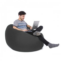Retro Classic Bean Bag – grey retro outdoor bean bag