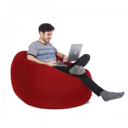 Retro Classic Indoor Outdoor Bean Bag (Red 3 Sizes) - Red Candy