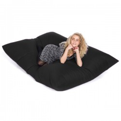 Slab Bean Bag – large designer black bean bag
