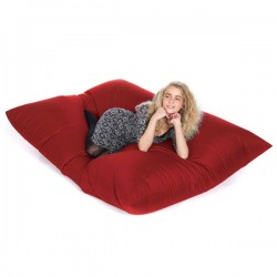 Slab Bean Bag - designer red outdoor bean bag