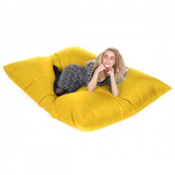 Slab Bean Bag - large yellow outdoor bean bag