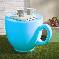 Tea Cup Stool - Light Blue - quirky teacup seat - novelty chair