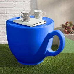Tea Cup Stool - Navy - characterful teacup seat - Holly Palmer