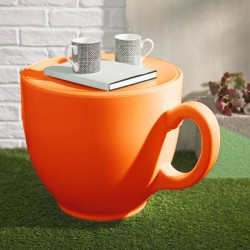 Tea Cup Stool – quirky orange teacup seat