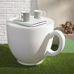 Tea Cup Stool – white designer teacup seat