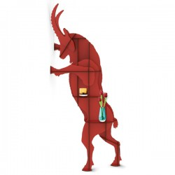Ibride Ibex Wall Storage Fausto – red animal wall shelf