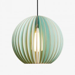 IUMI Aion Pendant Light blue – pastel blue plywood hanging lamp