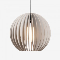 IUMI Aion Pendant Light grey – modern grey round hanging lamp
