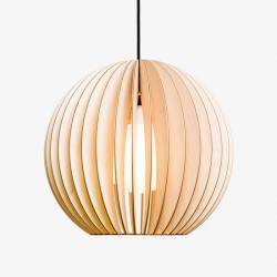 IUMI Aion Pendant Light natural – round natural plywood hanging lamp