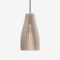 IUMI Ena Pendant Light Grey – grey designer plywood hanging lamp
