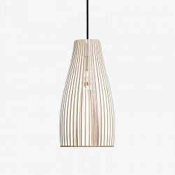 IUMI Ena Pendant Light White – trendy white plywood hanging lamp