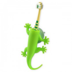 Larry Toothbrush Holder - Green - Lizard Bathroom Storage - j-me