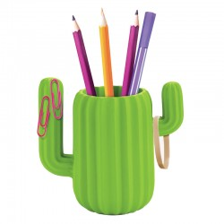 Cactus Desktop Organiser - quirky pen pot - Mustard