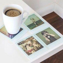 Instant Coasters - Set of 4 - polaroid photograph coaster set