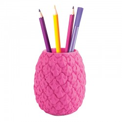 Seriously Tropical Pineapple Pen Pot - Pink - Mustard