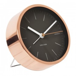 Karlsson Alarm Clock Minimal - Black - small copper desk clock