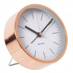 Karlsson Alarm Clock Minimal - White - designer copper alarm clock