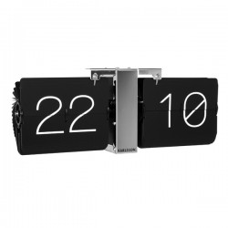 Karlsson Flip Clock Minimal - Chrome - Metal Flip Clock No Case