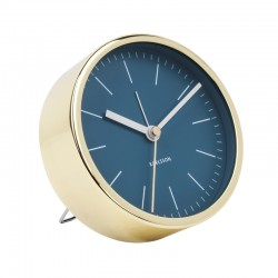 Karlsson Gold Alarm Clock Minimal - Blue - metallic desk clock
