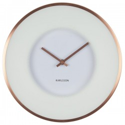 Karlsson Illusion Wall Clock - White - frosted glass copper clock