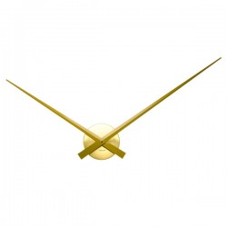 Karlsson Little Big Time Clock - Gold - minimalist metal wall clock